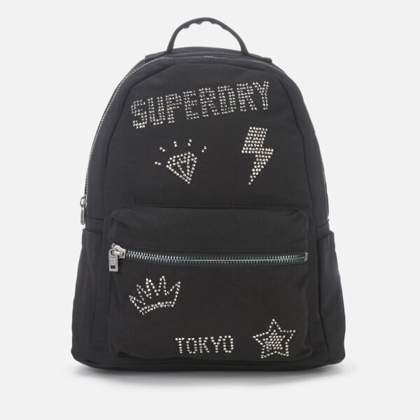 Superdry Women's Midi Backpack - Rhinestone Black