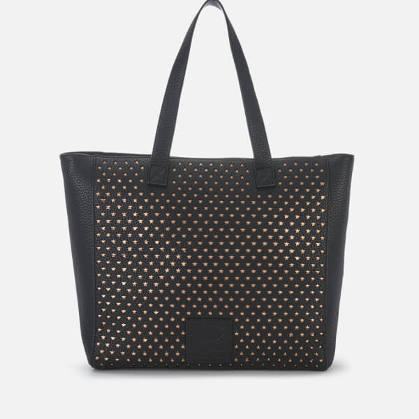 Superdry Women's Elaina Star Perf Tote Bag - Black/Rose Gold