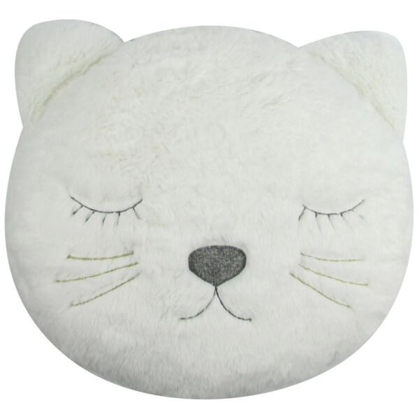 Albetta Decorative Cat Cushion - Off White