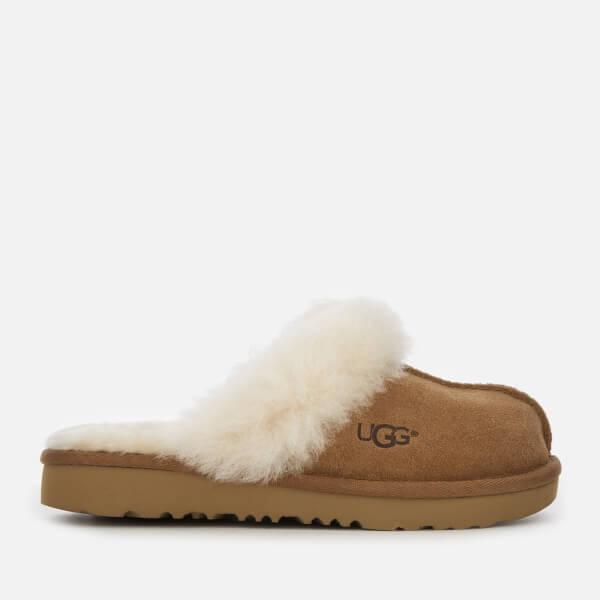 UGG Kid's Cozy II Suede Slippers - Chestnut