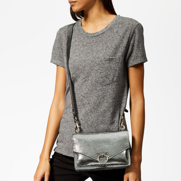 10e1f3d3f1f4 Rebecca Minkoff Women s Metallic Jean Medium Shoulder Bag - Silver  Image 3