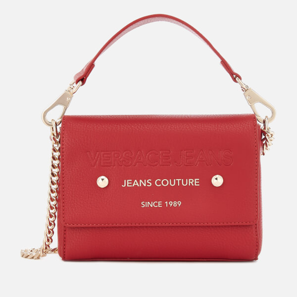 5eba6b0cce Versace Jeans Women's Top Handle Chain Cross Body Bag - Red: Image 1