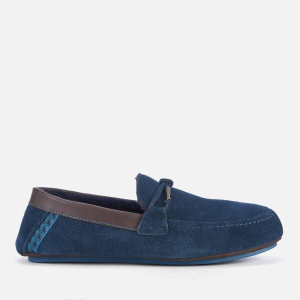 6215f215beb Ted Baker Men s Valcent Suede Moccasin Slippers - Dark Blue  Image 1
