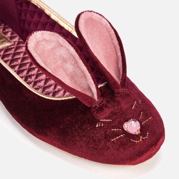 3a706b0b16e Ted Baker Women s Bhunni Velvet Slippers - Burgundy  Image 4