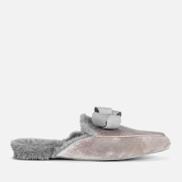 Ted Baker Women's Bhaybe Velvet Mule Slippers - Light Grey