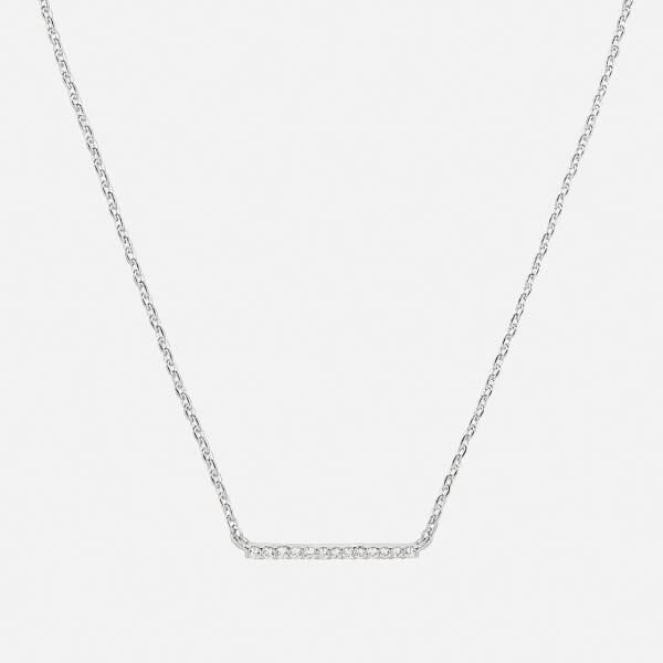 Astrid & Miyu Women's Walk the Line Small Bar Necklace - Silver