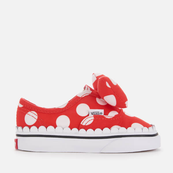 e6bf67102709 Vans Toddler s Disney Minnie s Bow Authentic Trainers - True White  Image 1