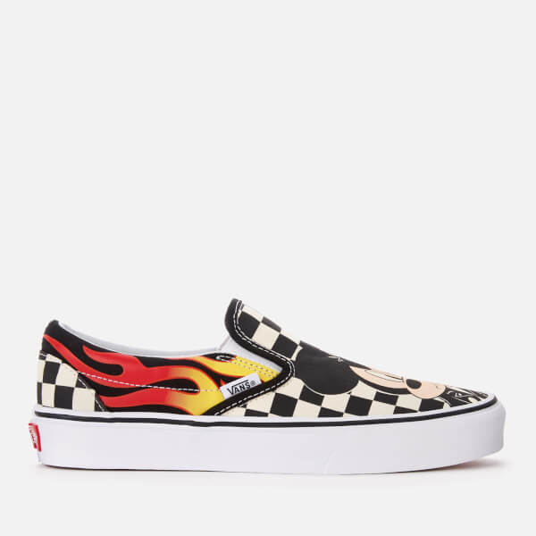 d009fe0beed2 Vans Women s Disney Mickey   Minnie Classic Slip-On Trainers - Checker  Flame  Image