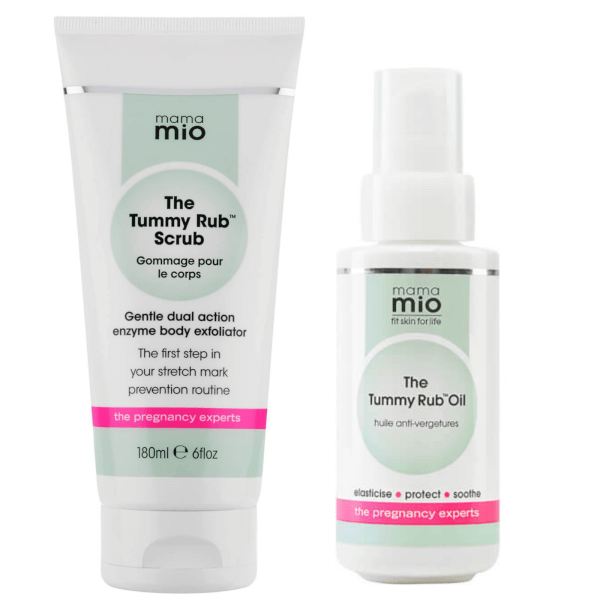 Mama Mio Stretch Mark Prevention Duo (Scrub + Oil)