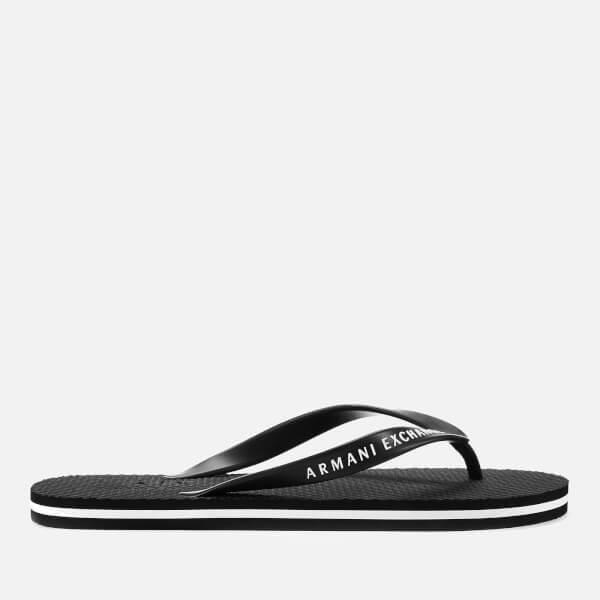 090590f33 Armani Exchange Men s Flip Flops - Black  Image 1