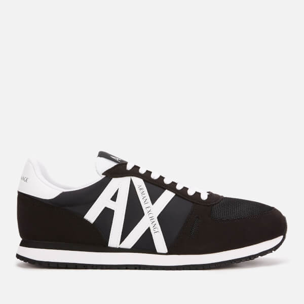 Armani Exchange Men's AX Logo Runner Style Trainers - Black/White