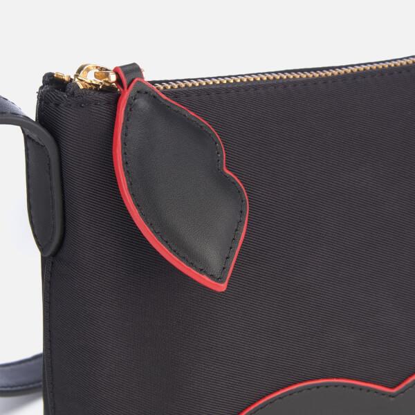 5f5318c909f8 Lulu Guinness Women s Cupid s Bow Marie Cross Body Bag - Black Scarlet   Image 4