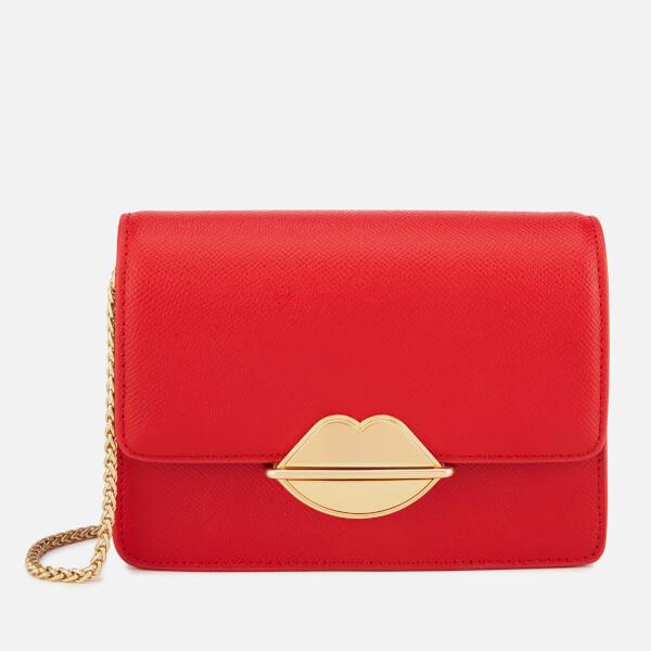 Lulu Guinness Women's Lip Push Lock Polly Cross Body Bag - Scarlet