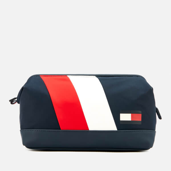 Tommy Hilfiger Men s Tommy Chevron Washbag - Navy Red White  Image 1 e34c6cdc20ddf