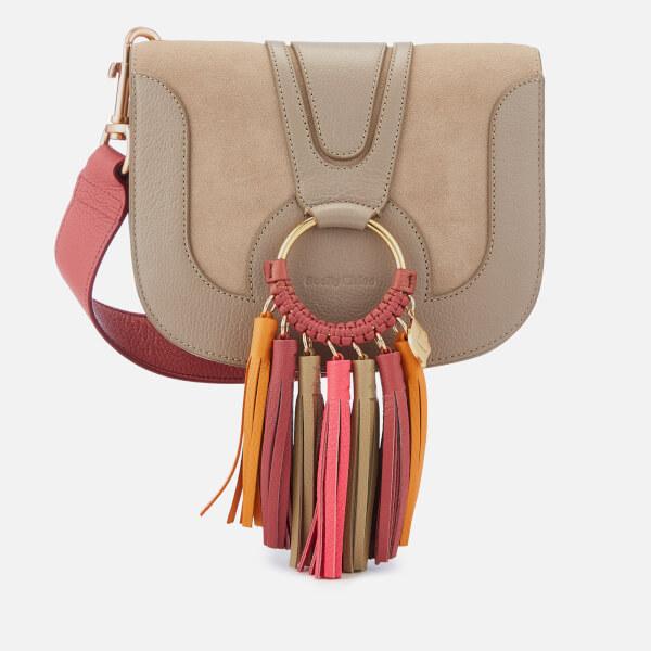 See By Chloé Women's Hana Cross Body Bag with Contrast Tassel - Motty Grey