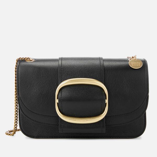 See By Chloé Women's Large Hopper Cross Body Bag - Black