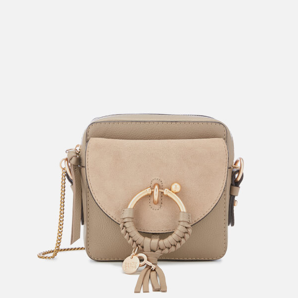 40b9858f57 See By Chloé Women s Joan Small Cross Body Bag - Motty Grey  Image 1
