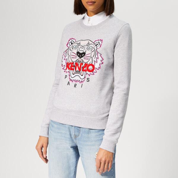 KENZO Women s Tiger Classic Sweatshirt - Pale Grey - Free UK ... e7791e6e72b