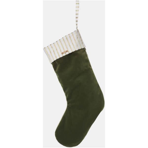 Ferm Living Christmas Velvet Stocking - Green