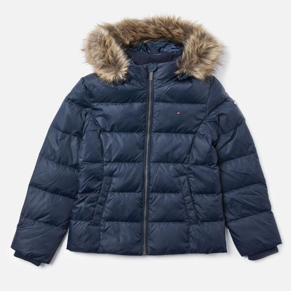 Tommy Hilfiger Girls' Essential Basic Down Jacket - Black Iris
