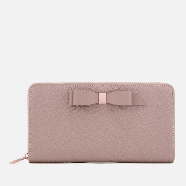 Ted Baker Women's Aine Bow Zip Around Matinee Purse - Taupe