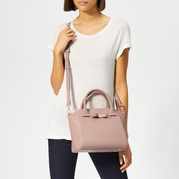 46c155804 Ted Baker Women s Janne Bow Detail Zip Tote Bag - Taupe  Image 3