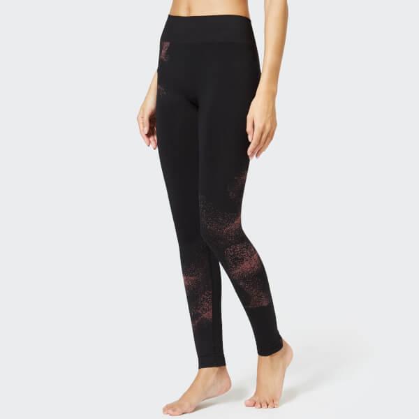 M-Life Women's Practise Seamless Leggings - Black/Dusk Rose