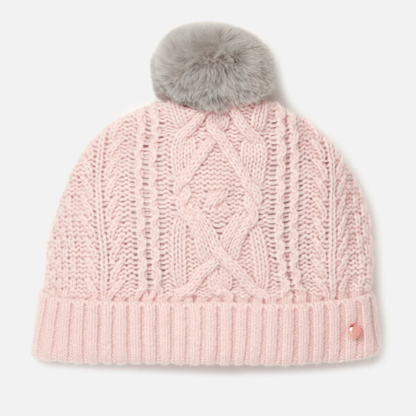 d369eea58eada Ted Baker Women s Raisa Knitted Pom Hat and Sock Set - Nude Pink  Image 3