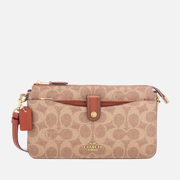 Coach Women's Signature Pop Up Messenger Bag - Tan Rust