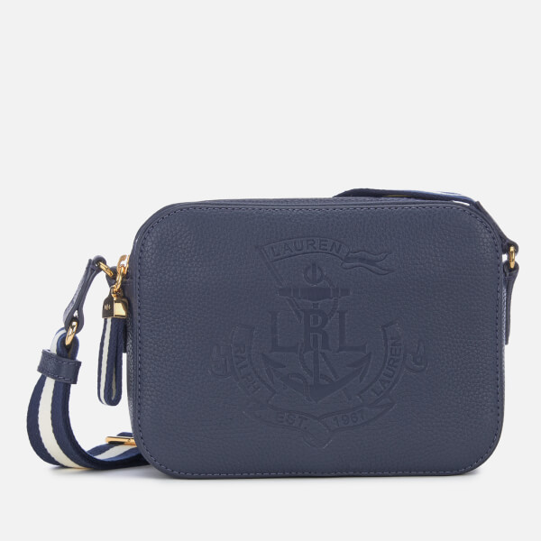 4a9d0cb483d0 Lauren Ralph Lauren Women s Huntley Medium Cross Body Bag - Navy  Image 1