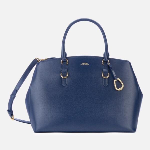 Lauren Ralph Lauren Women's Bennington Double Zip Medium Satchel Bag - Navy