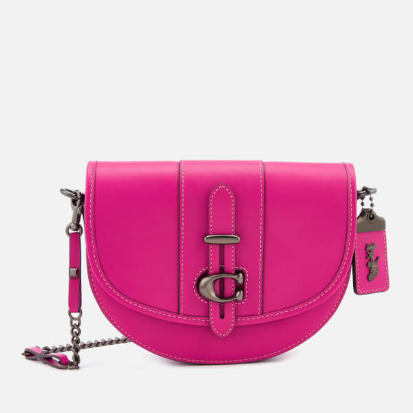 Coach 1941 Women's Glovetanned Leather Saddle Bag - Fuchsia