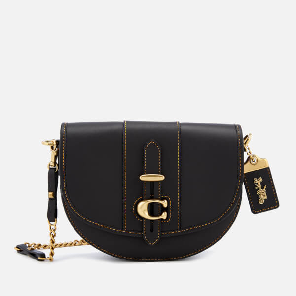 364c25032ae2 Coach 1941 Women s Glovetanned Leather Saddle Bag - Black  Image 1