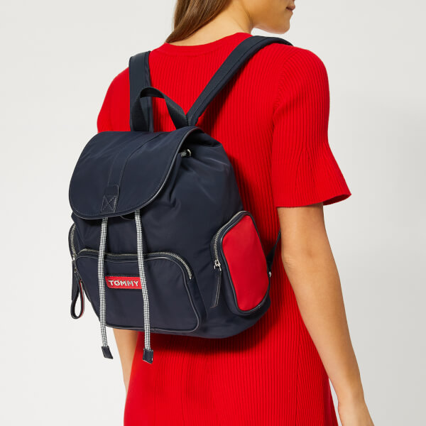 b8cd9bc87 Tommy Hilfiger Women's Varsity Nylon Backpack - Corporate: Image 3