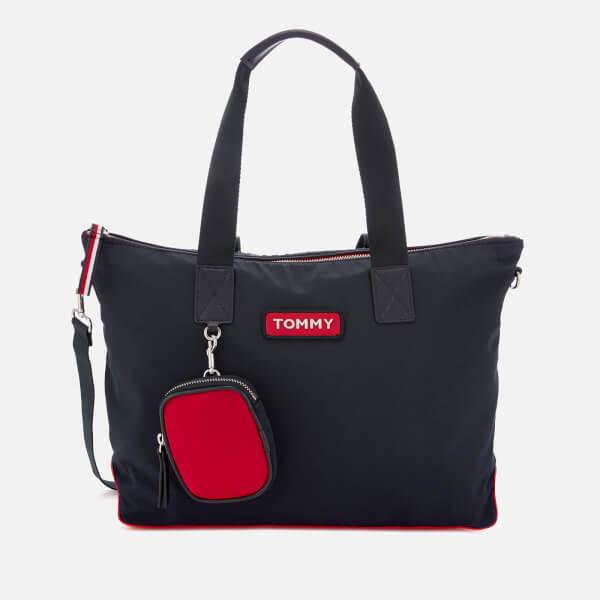 97fbfaa34 Tommy Hilfiger Women's Varsity Nylon Tote Bag - Corporate: Image 1