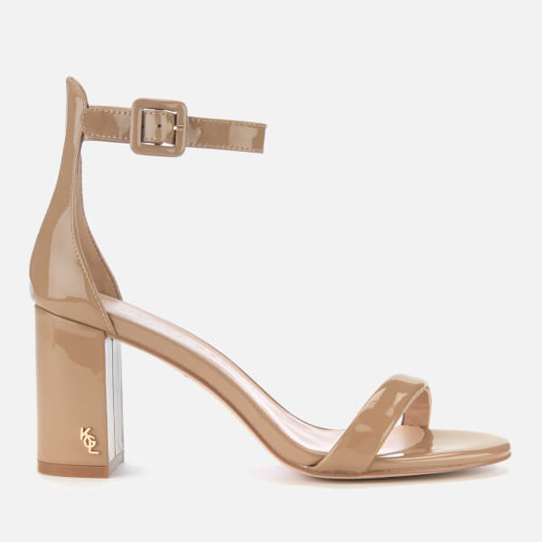 Kurt Geiger London Women's Langley Patent Block Heeled Sandals - Camel