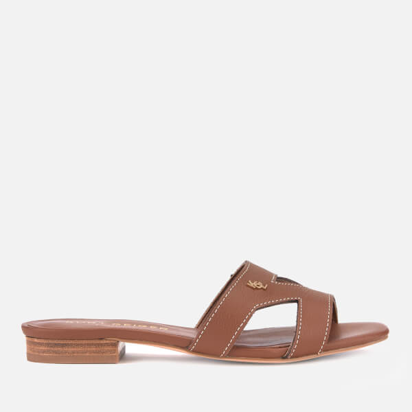 Kurt Geiger London Women's Odina Leather Flat Sandals - Tan