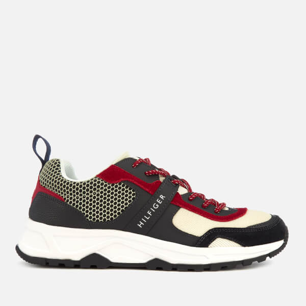 b47ca18eadb51b Tommy Hilfiger Men s Material Mix Lightweight Runner Trainers - Red White Blue   Image