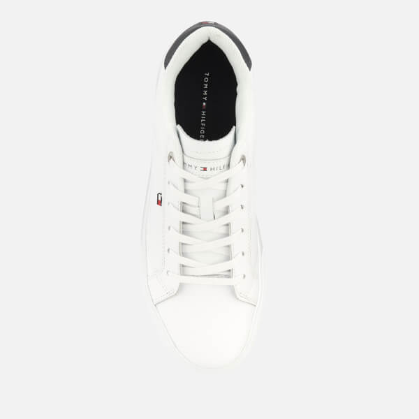 f8a204bc9a80 Tommy Hilfiger Men s Essential Leather Cupsole Trainers - White  Image 3