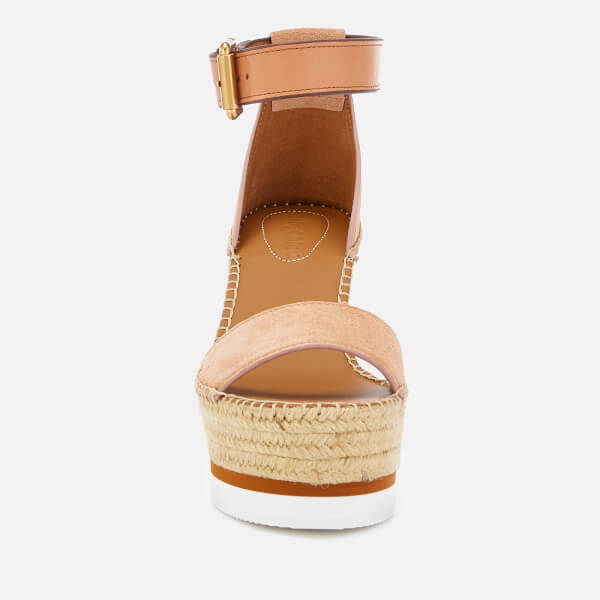 b2d8559afc5a See By Chloé Women s Glyn Suede Espadrille Wedge Sandals - Cipria  Image 2