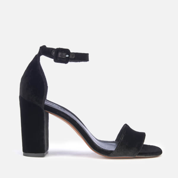 a0858f9bfc6 Whistles Women s Alba Barely There Block Heeled Sandals - Black ...