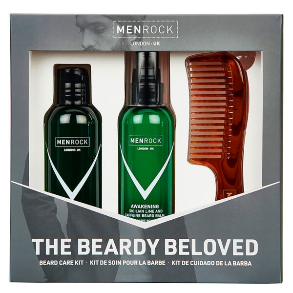 Men Rock The Beardy Beloved Beard Care Starter Kit - Sicilian Lime (Worth £30.95)
