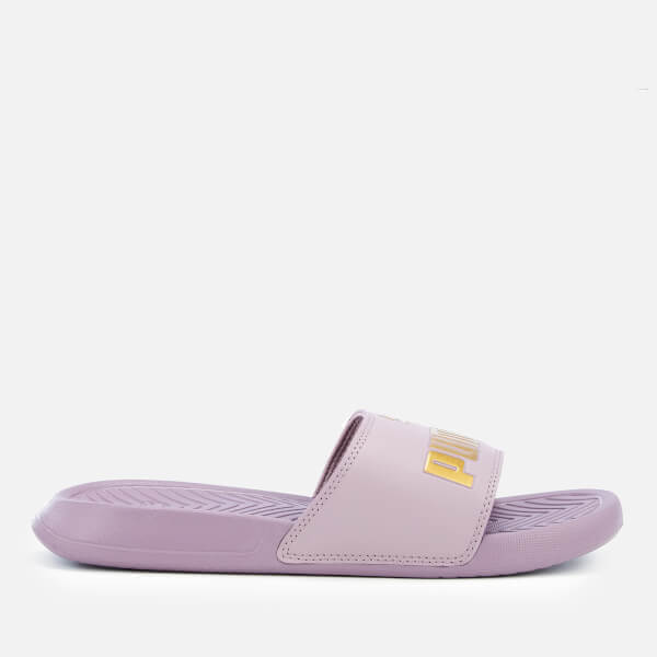 3d9c179db9d8f Puma Women s Popcat Slide Sandals - Elderberry Puma Team Gold  Image 2