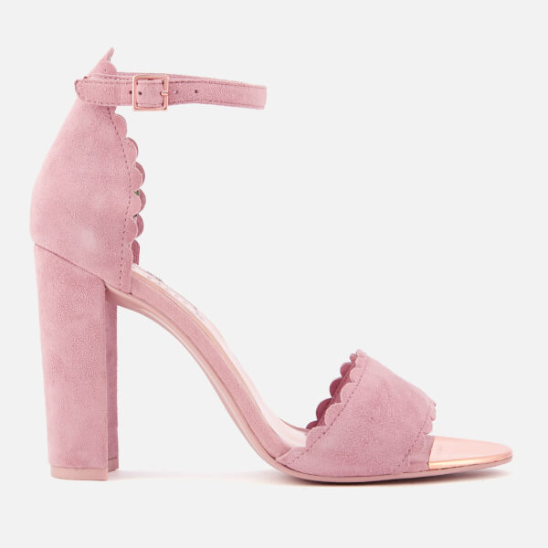 c5d240310 Ted Baker Women s Raidha Suede Barely There Block Heeled Sandals - Pink  Blossom  Image 1