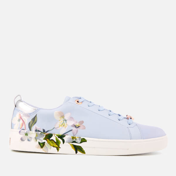 4488c870a8a94 Ted Baker Women s Orosa Floral Low Top Trainers - Graceful Blue  Image 1