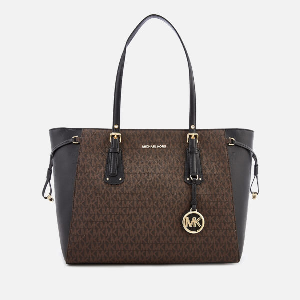 72b8aff20b1e MICHAEL MICHAEL KORS Women s Voyager Tote Bag - Brown Black  Image 1