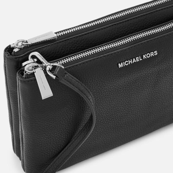 d702f85011b05f MICHAEL MICHAEL KORS Women's Adele Double Zip Cross Body Bag - Black: Image  4