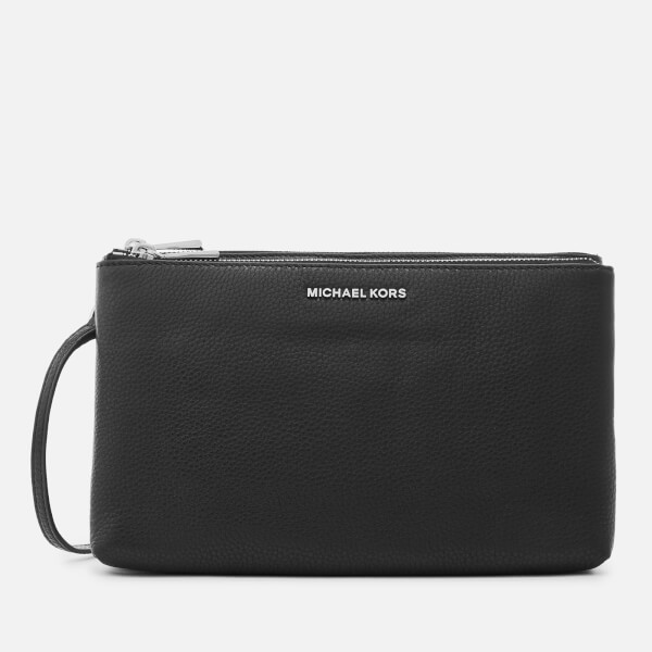 3161b53d9224 MICHAEL MICHAEL KORS Women s Adele Double Zip Cross Body Bag - Black  Image  1
