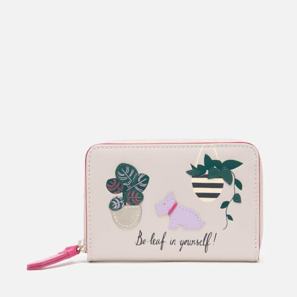 Radley Women's Be-Leaf In Yourself Small Purse Zip Around - Dove Grey