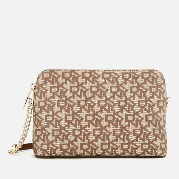 f4ba2ae58c70 DKNY Women s Bryant Dome Cross Body Bag - Cream  Image 1